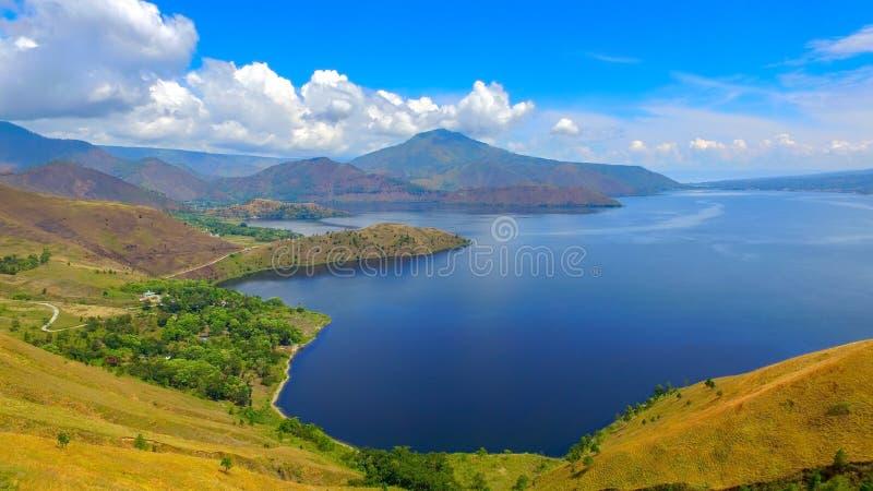 Vue de colline de Holbung photos libres de droits