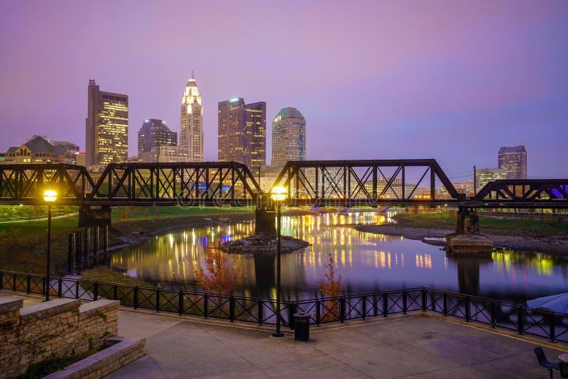 Vue de Columbus Ohio Skyline du centre image stock