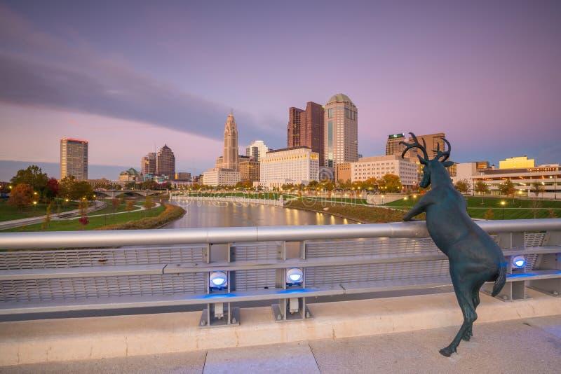 Vue de Columbus Ohio Skyline du centre images stock