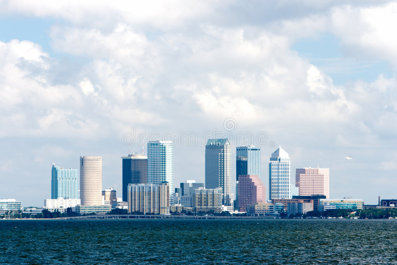 Vue de compartiment d'horizon de Tampa photo stock