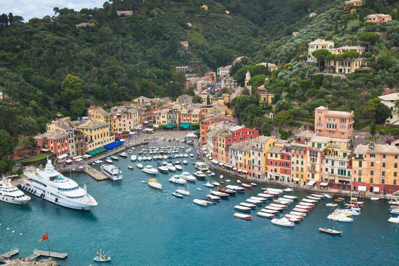 Vue de compartiment de Portofino photographie stock libre de droits
