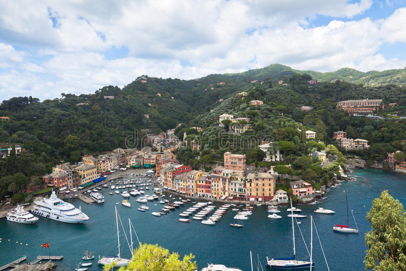 Vue de compartiment de Portofino de ci-avant image libre de droits