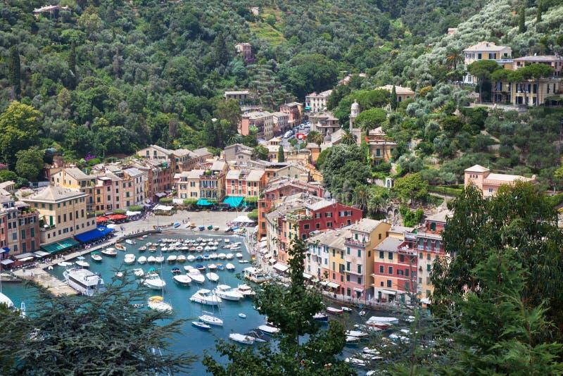 Vue de compartiment de Portofino de ci-avant photo stock