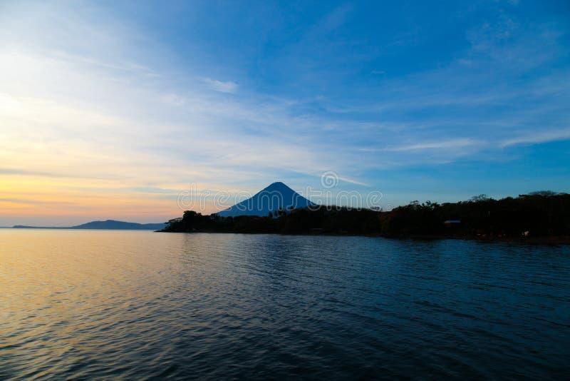 Vue de Concepcion de vulcano d'Ometepe photos stock