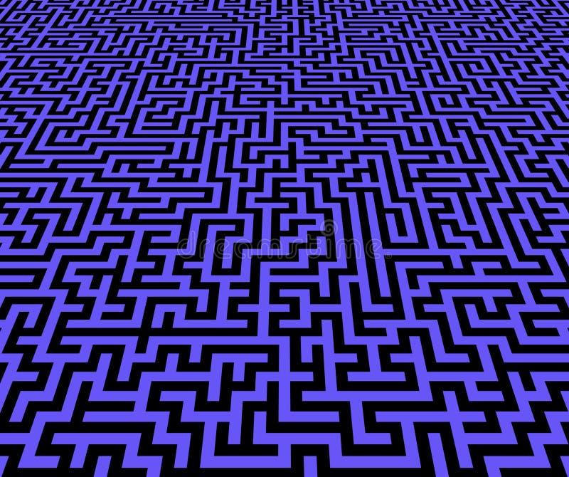 vue de configuration de labyrinthe d'inifinite illustration libre de droits