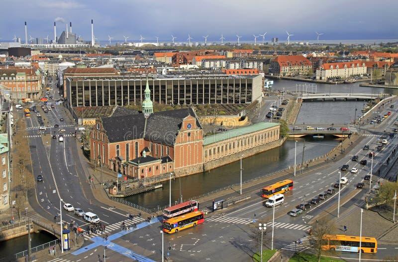 Vue de Copenhague de la tour du palais de Christiansborg photos libres de droits