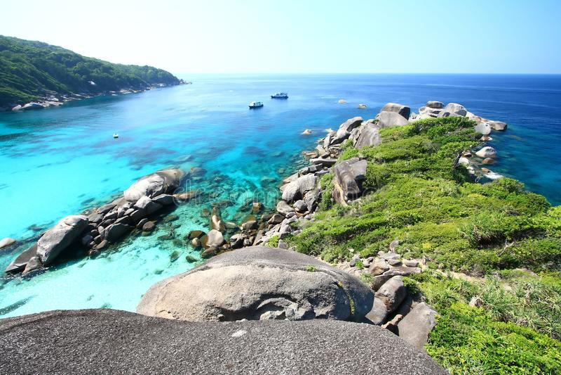 Vue de corail de stationnement national de Similan images stock