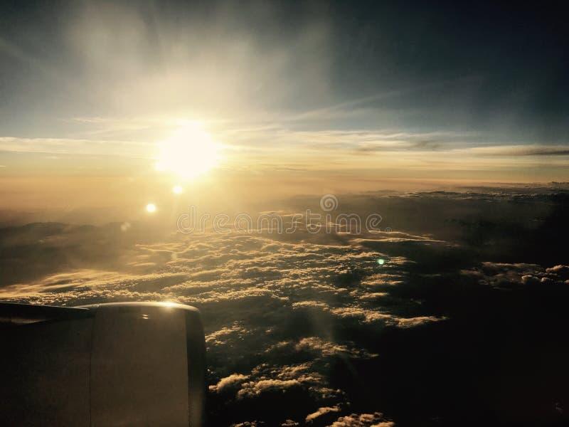 Vue de coucher du soleil photos stock