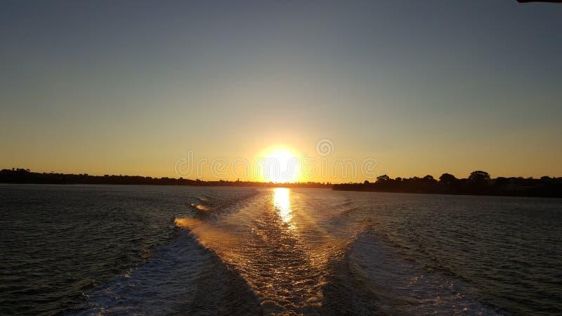 Vue de coucher du soleil d'île de Rottnest image stock