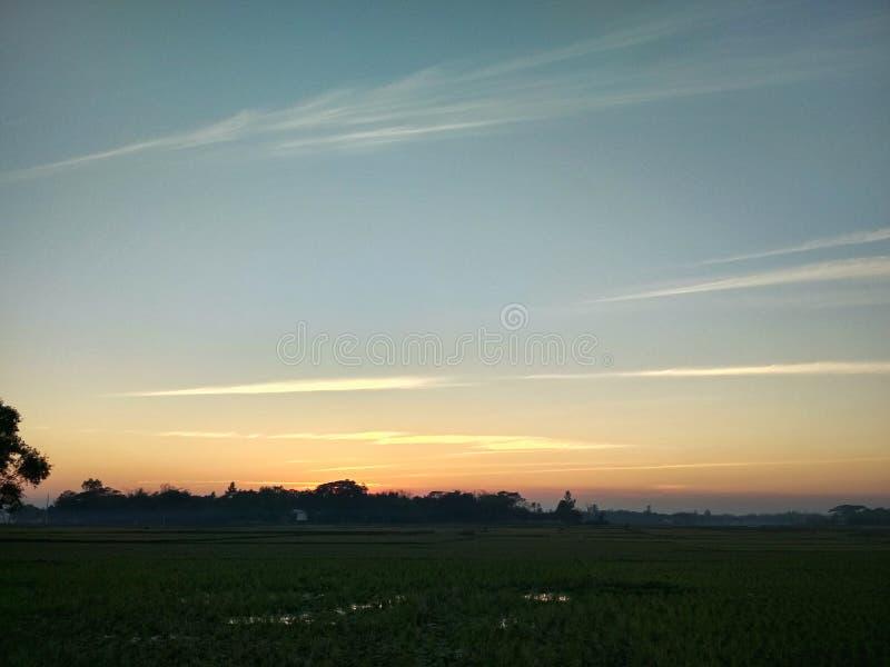 vue de coucher du soleil ou de ciel images stock