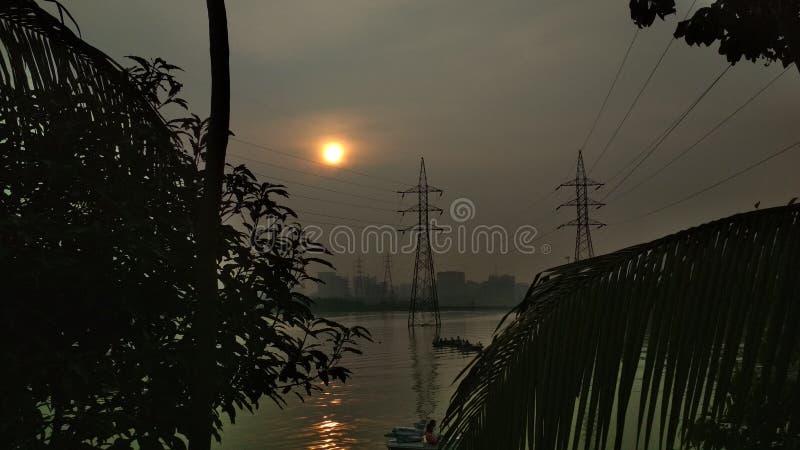 vue de coucher du soleil ou de ciel photos libres de droits