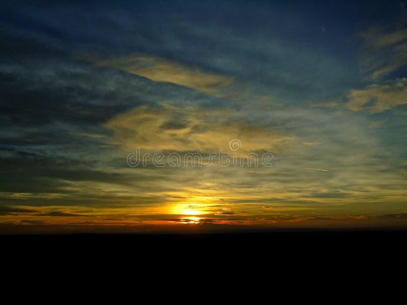 Vue de coucher du soleil de parc national de Canyonlands images libres de droits