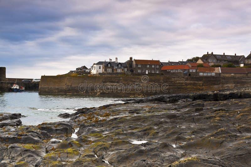 Vue de Craster le Northumberland photographie stock libre de droits
