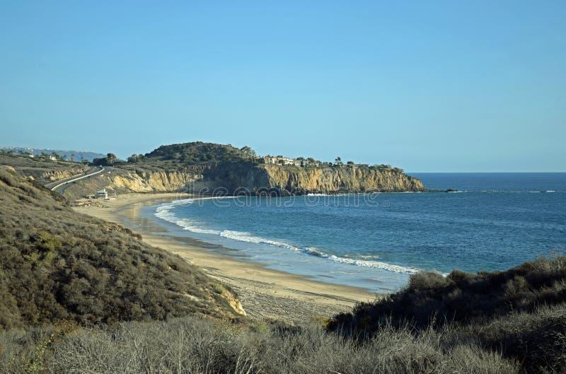 Vue de Crystal Cove State Park, la Californie du sud images stock