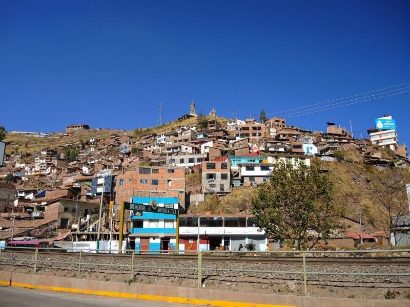 Download Vue de Cusco, Pérou image éditorial. Image du bleu, granit - 77159115
