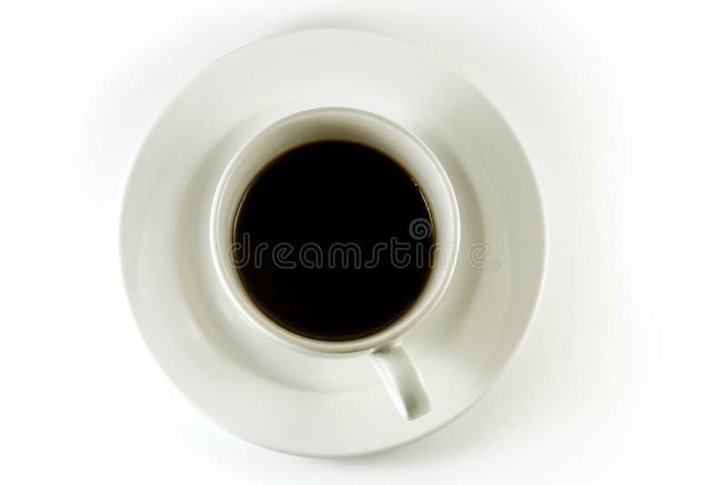 Vue de cuvette de café première photographie stock libre de droits