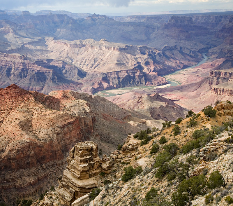 Vue de désert de gorge grande photographie stock libre de droits