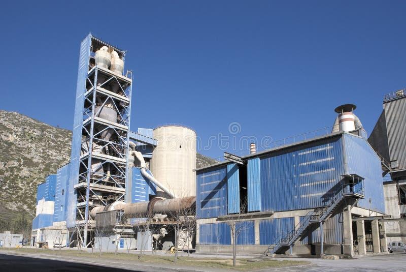 Vue de détail d'usine de ciment photos stock