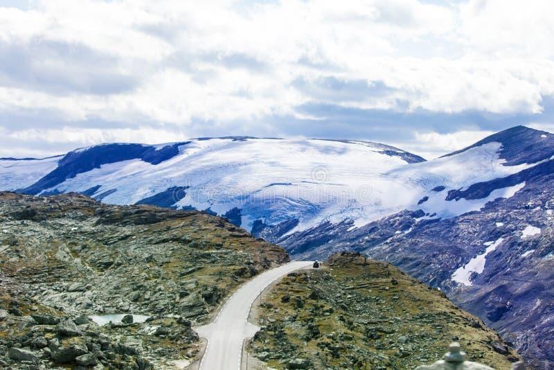 Vue de Dalsnibba sur le glacier image libre de droits