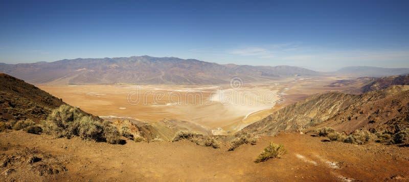Vue de Dantes, parc national de Death Valley photos stock