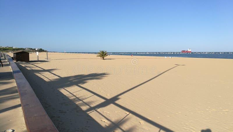 Vue de Desembocadura del rÃo le Guadalquivir Sanlúcar image libre de droits