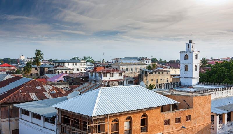 Vue de dessus de toit au-dessus de stonetown Zanzibar photos libres de droits