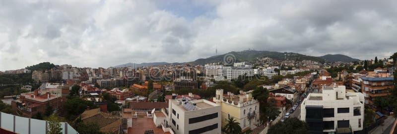 Vue de dessus de toit de Barcelone photos libres de droits