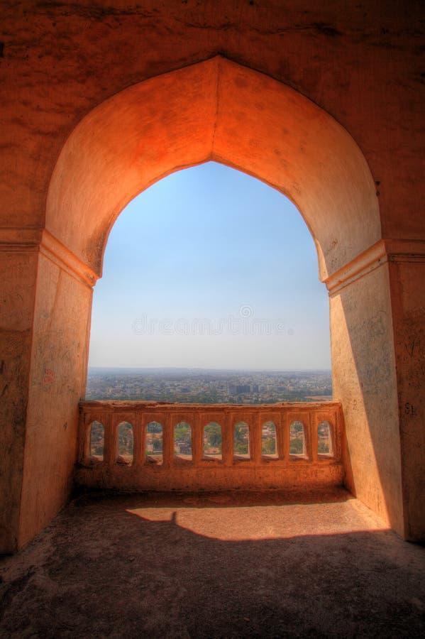 Vue de Dharbar Hall, fort de Golconda, Hyderabad photographie stock libre de droits