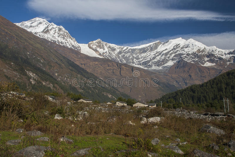 Vue de Dhaulagiri photo libre de droits