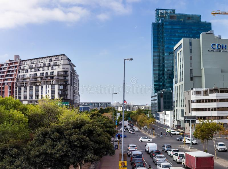 Vue de district des affaires de Cape Town image stock