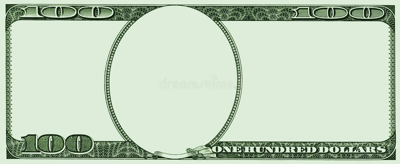 Vue de 100 dollars des Etats-Unis illustration stock