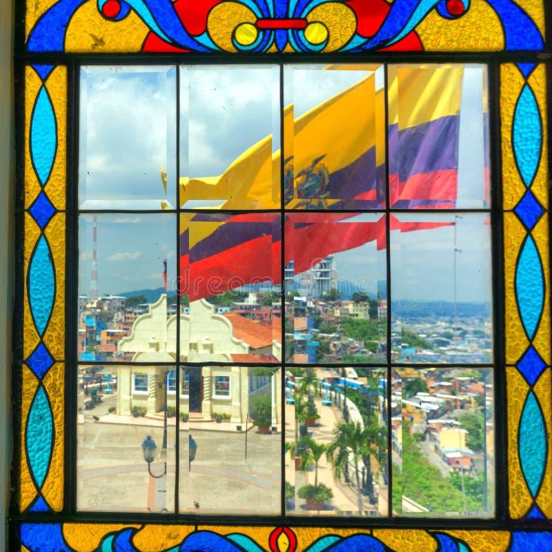 Vue de drapeau de Guayaquil photos stock