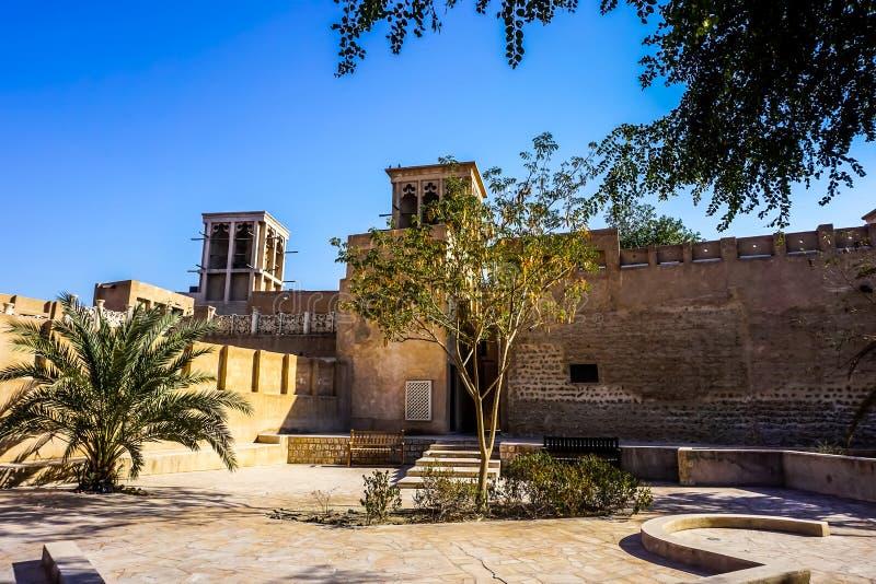 Vue de Dubaï Al Bastakiya Al Fahidi Historical Neighbourhood photo stock