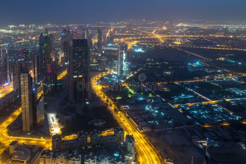 Vue de Dubaï de Burj Khalifa photo libre de droits