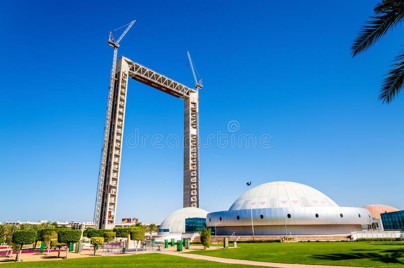 Vue de Dubaï en construction images stock