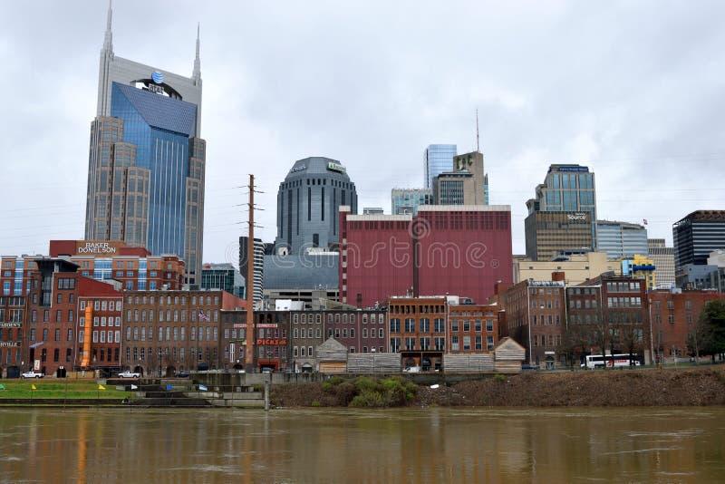 Vue de façade d'une rivière de Nashville image libre de droits