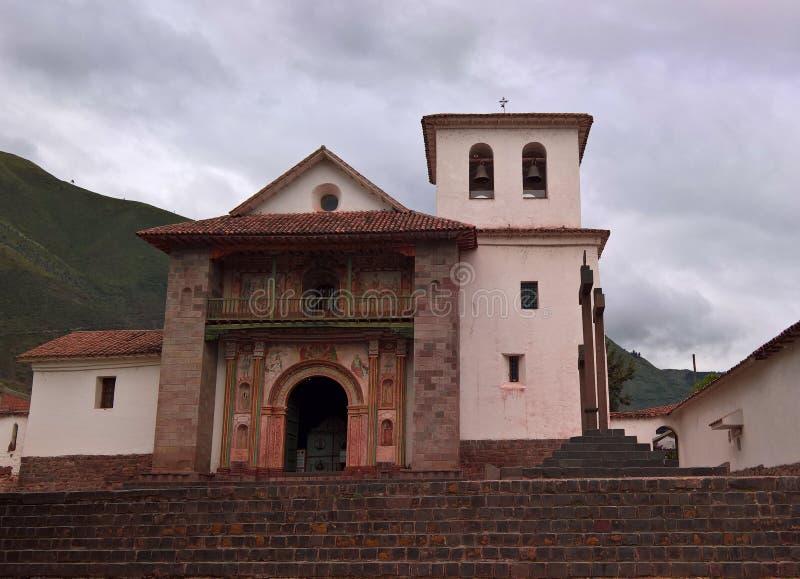 Vue de fa?ade ? St Peter Church d'Andahuaylillas, Cuzco, P?rou images libres de droits