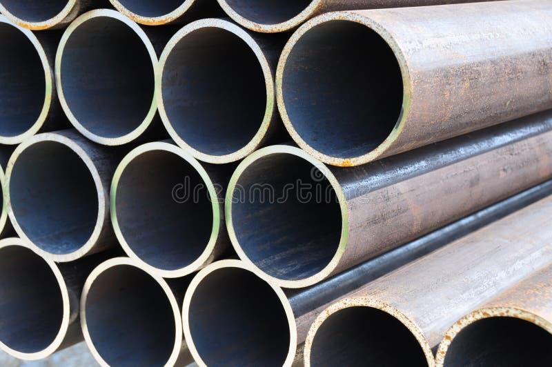Vue de face 2 de pipes en acier photographie stock