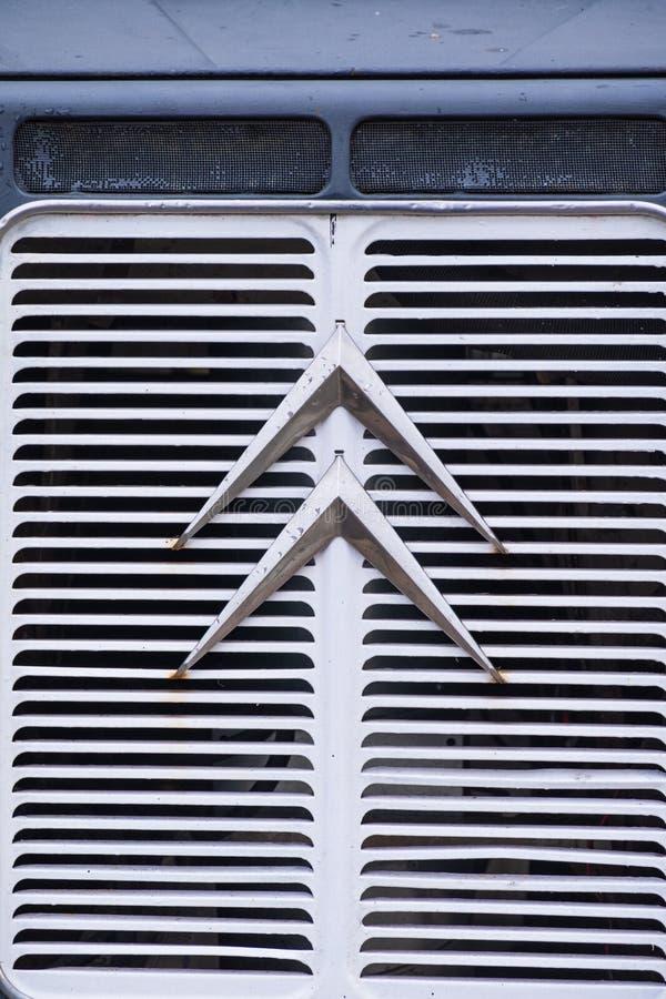 Vue de face de Citroen classique H Van avec le logo évident photos libres de droits