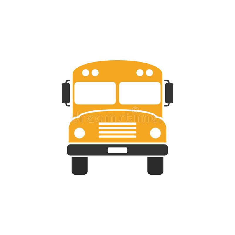 Vue de face d'autobus scolaire illustration stock