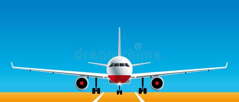 Vue de face d'avion illustration de vecteur