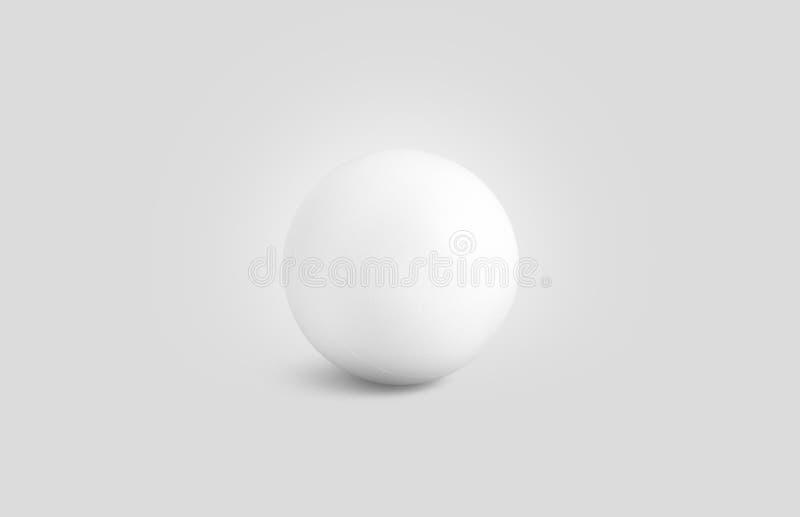 Vue de face d'effort de maquette blanche vide de boule d'isolement, illustration de vecteur