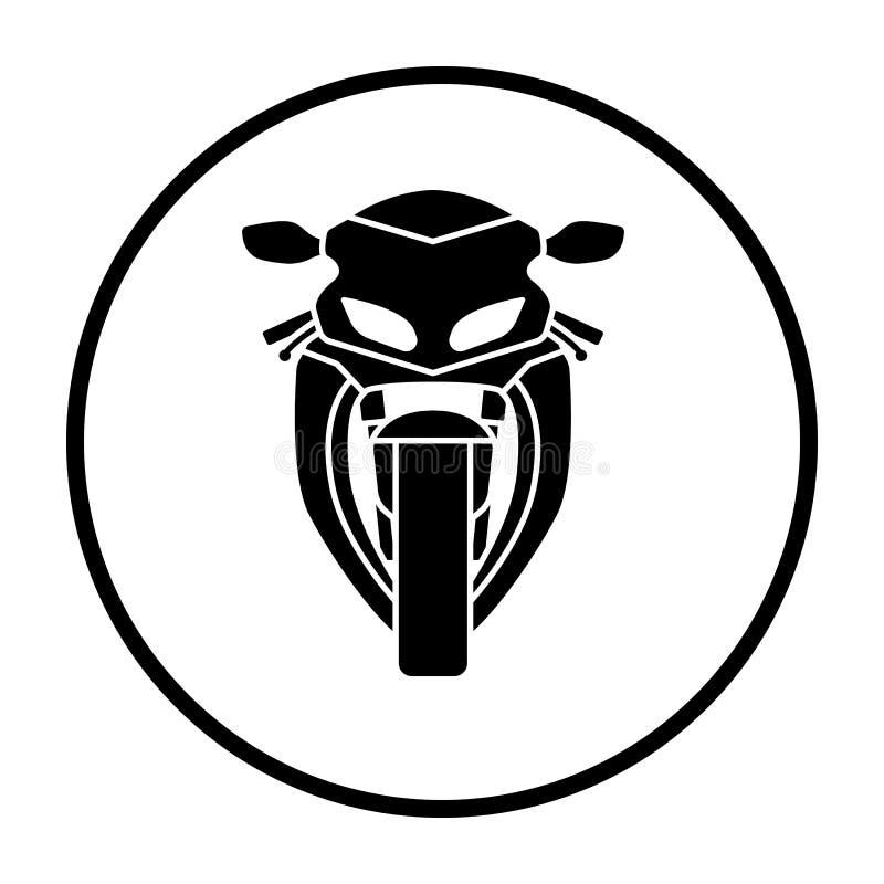 Vue de face d'ic?ne de moto illustration stock