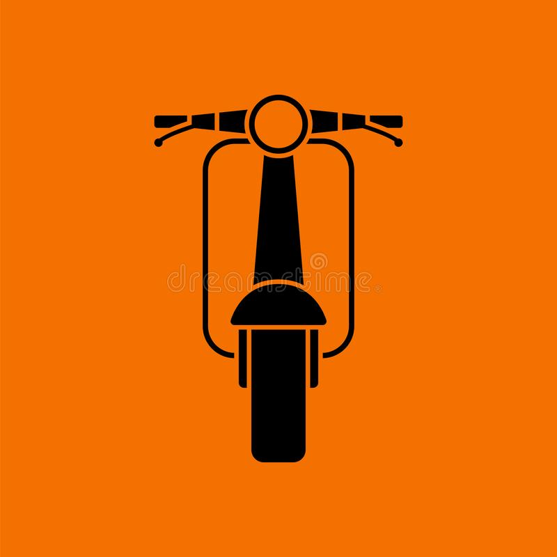Vue de face d'ic?ne de scooter illustration stock