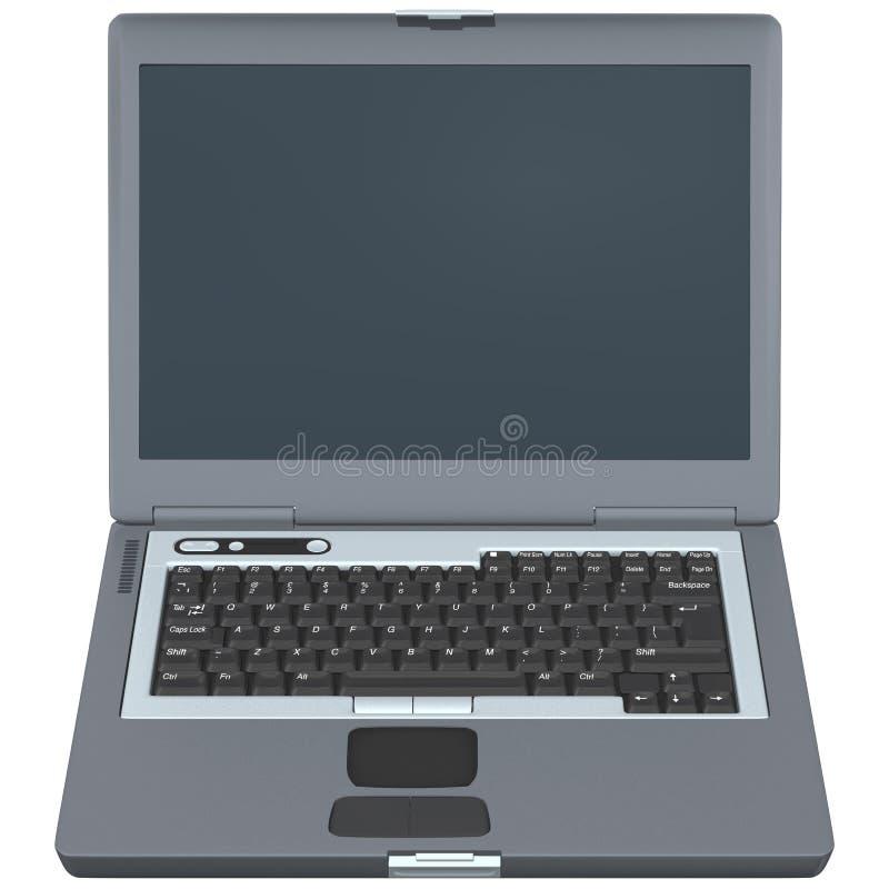 Vue de face d'ordinateur portatif illustration stock