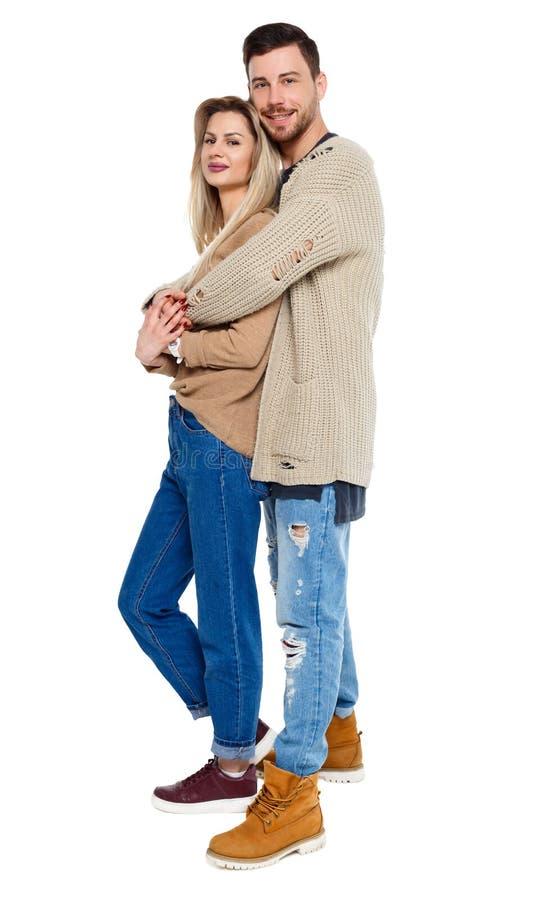 Vue de face d'un couple élégant image libre de droits