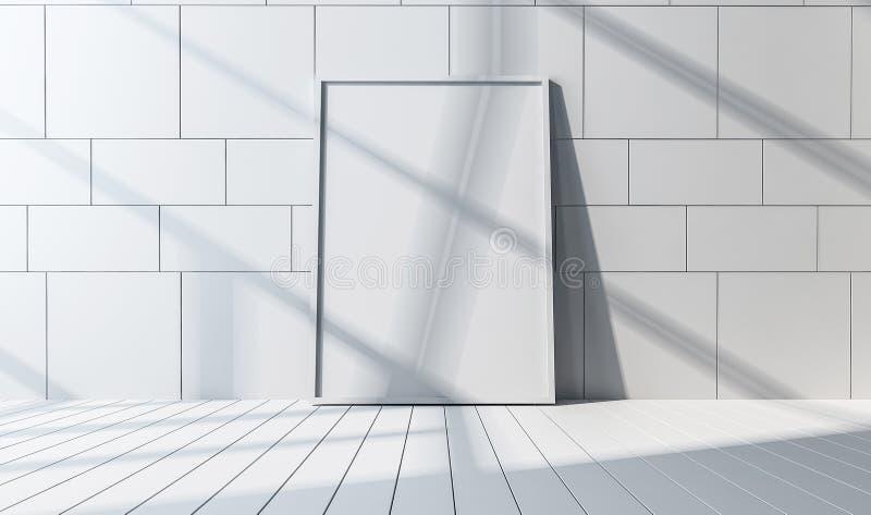 Vue de face d'un miroir ou d'un grand cadre de tableau illustration libre de droits