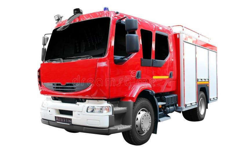 Vue de face de camion de pompiers d'isolement image libre de droits