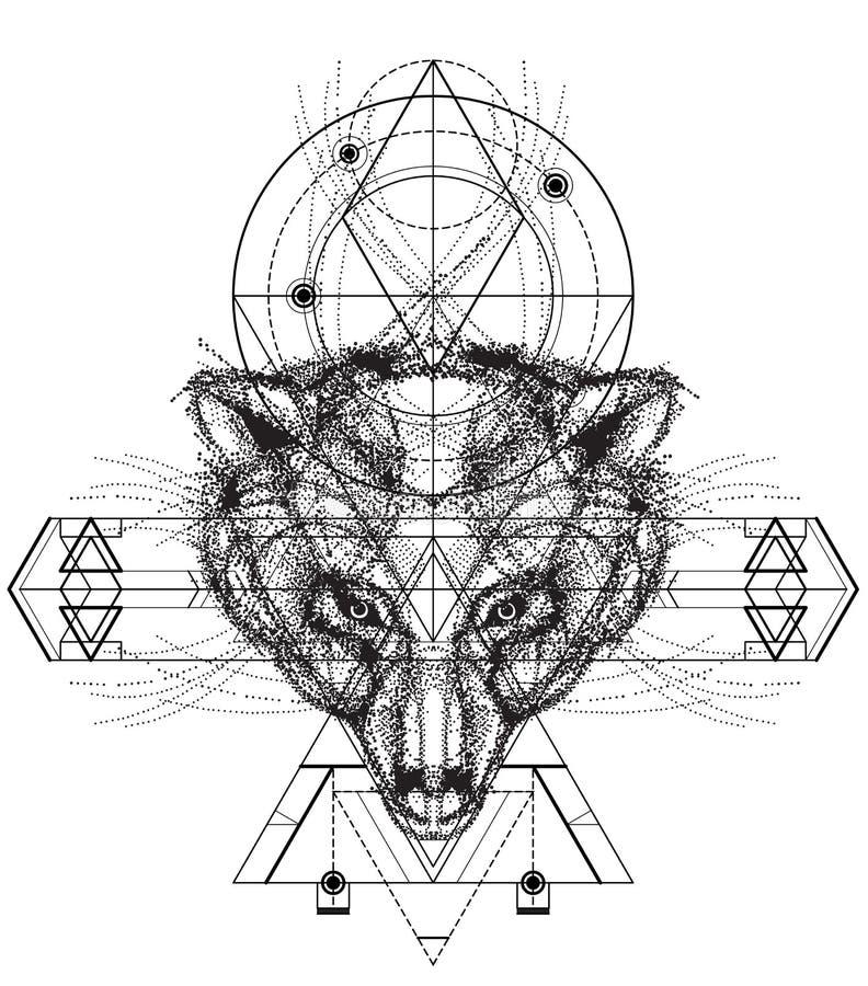 Vue de face de griffonnage de tête d'ours illustration de vecteur