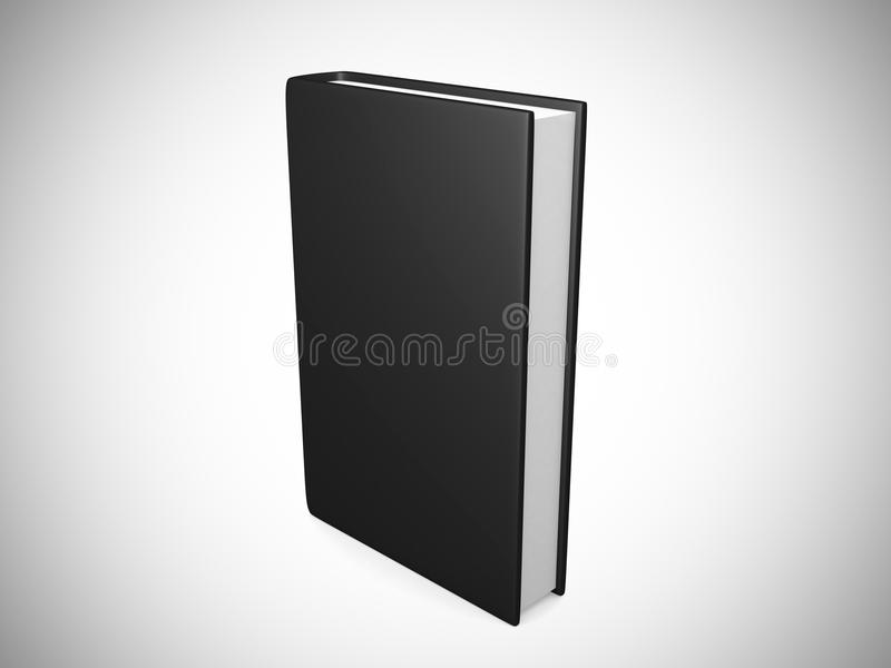 Vue de face de noir vide de couverture de livre illustration de vecteur